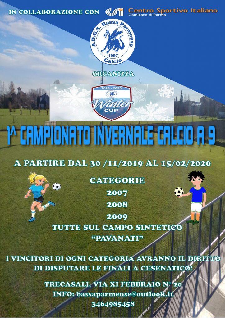 1° Campionato Invernale di calcio a 9 - Winter Cup